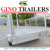 6ft x 4ft Multi Purpose Galvanised Caged Cage Car Trailer