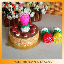 flower music birthday opening battery candle