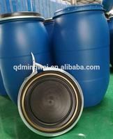 blue 55 cold rolled steel gallon oil drum with cover with lock ring sealed with bolt