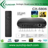 Sunchip CX-S806, FiberHome Amlogic S812 Quad core 2G /8G Flash 4K support Android 4.4 SET TOP BOX,