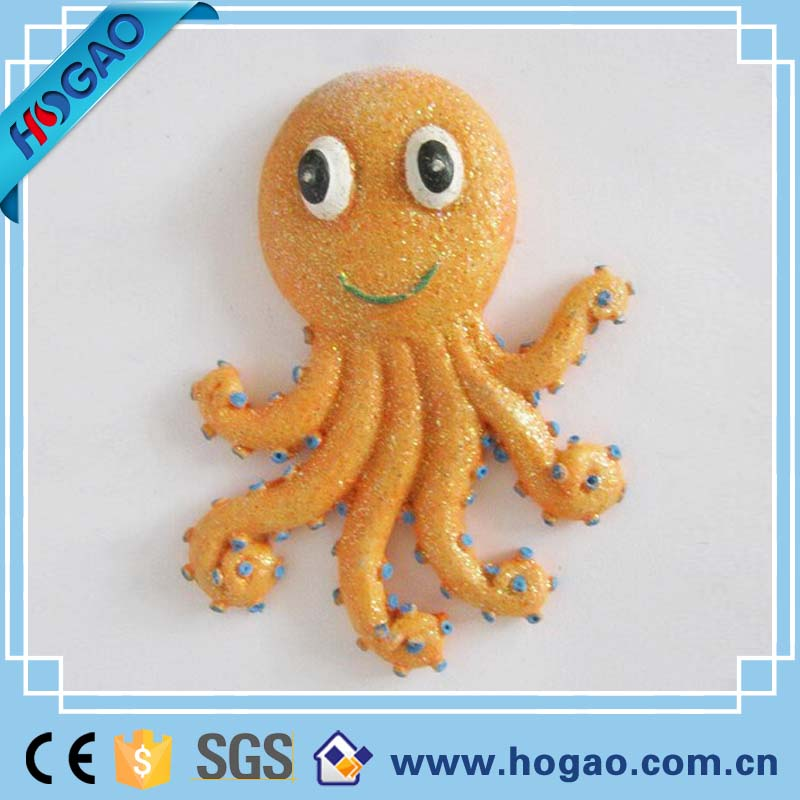 Wholesale resin cartoon animals octopus fridge magnet for sale