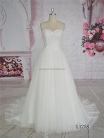 Strapless lace backless 2016 alibaba bridal gown wedding dress