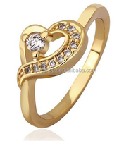 18k yellow gold filled AAA cubic zirconia ring