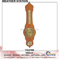 Wooden Weather Station Barometer Decor YG378B