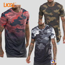 OEM 100% Cotton Short Sleeves Curved Hem Custom Logo Pattern Camo Men T Shirts Manufacturers china