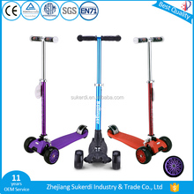 Sukerdi Chinese brands customizable children scooter tilt and turn tri wheel three-wheel scooter for kid 5+