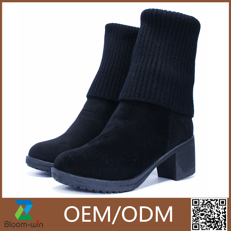 Hot sales high quality blue jeans high heel women boots cheap price for sale