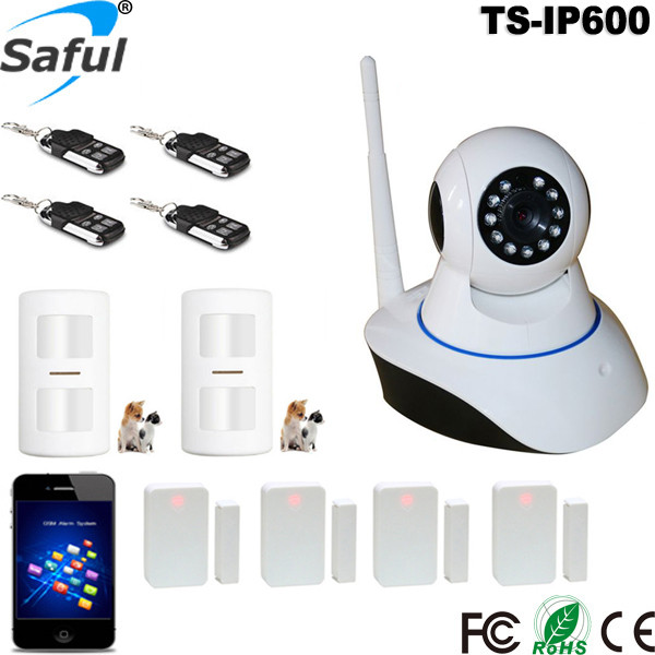 HD 1080P IP Camera wifi surveillance camera sd 64GB camara Wireless p2p IP camara alarm with pir & door <strong>sensor</strong>