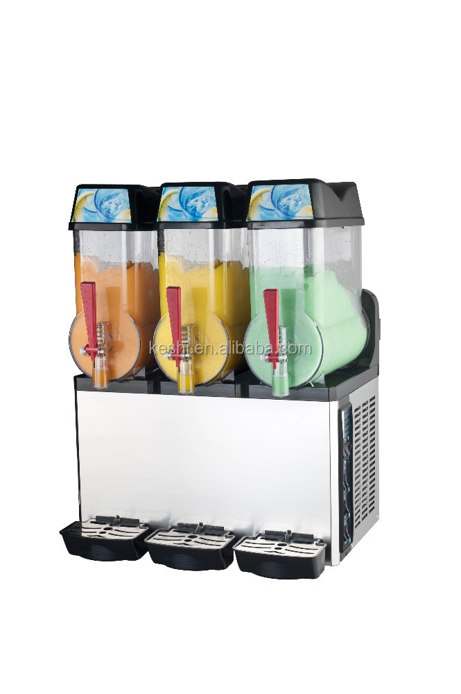slush machine for sale with Aspera compressor and 3 bowls