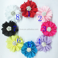Rhinestone Bead Fabric Flower