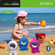 Bass sound 4ohm small kids cartoon Bluetooth speaker with led light