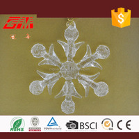 Elegant clear snowflake christmas ornaments