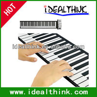 Portable 61 Keys Flexible Roll Up Electronic Piano Soft Keyboard Midi Digital Organ Synthesizer