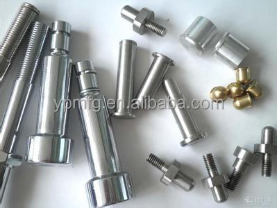 Chrome plating parts custom fabrication, stainless steel bolt/ dowel pin/ rod/ screw cap/ cap nut cnc turning parts manufacture