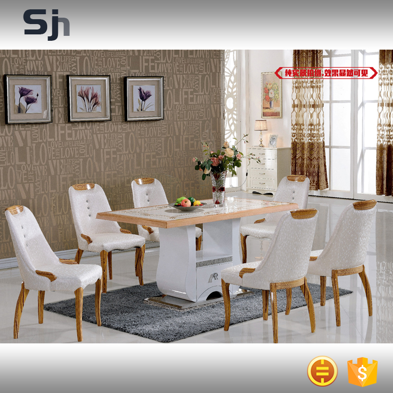 New design luxury dining room furniture set tables and chairs for S312