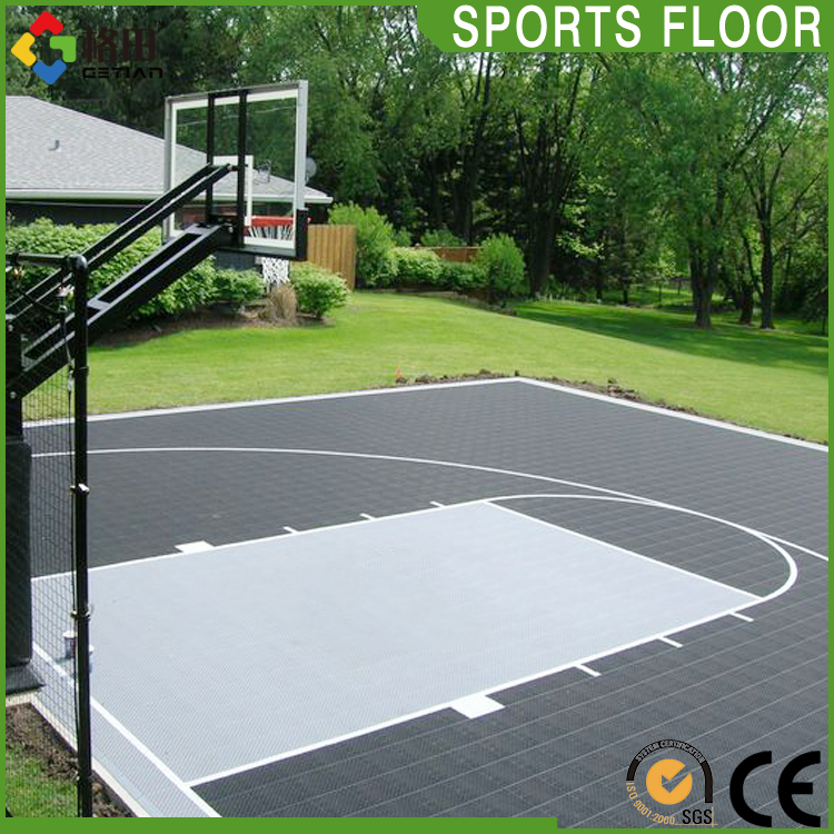 Quality guarantee guangdong indoor outdoor basketball flooring price,noise reduction flooring for basketball court