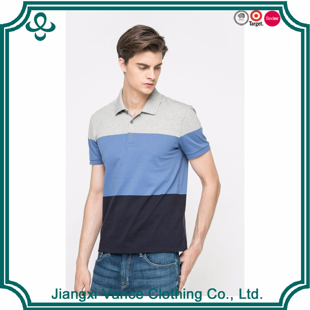 Wholesale New Brand Shrink Water Cotton Men's POLO Shirt Color Matching Men's POLO Shirts