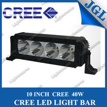 lightstorm led light bar 40w 10 inch single row 4 leds aluminum housing one year warranty driving light bar