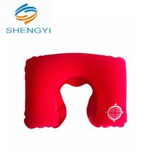 Novelty inflatable happy round neck bearing travel pillow block
