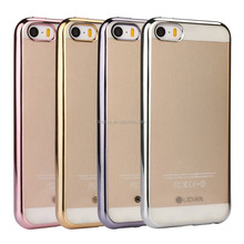 2016 best Soft Clear TPU Electroplating for iphone 5 Case 360