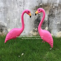 Ornaments Type Plastic Flamingos Home And