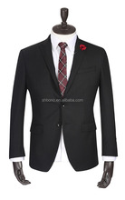 New arrival MTM black wool wedding suit With CMT price