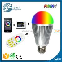 Remote control Home and Office, Bar smart E27 wifi bulb 9W RGB LED bulb light