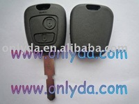 Peugeot car key 2 button 4 track remte key blank without logo