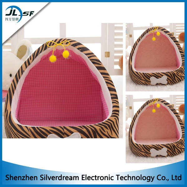 New Style Covered Pet Bed Leopard Print Arc Dog Cat Bed