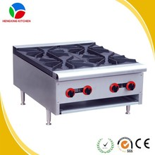 High quality 4 burner heavy duty gas range stainless steel gas cooking wok range