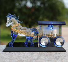 Beautiful Crystal Carriage Model Car Perfume Bottle For Decoration
