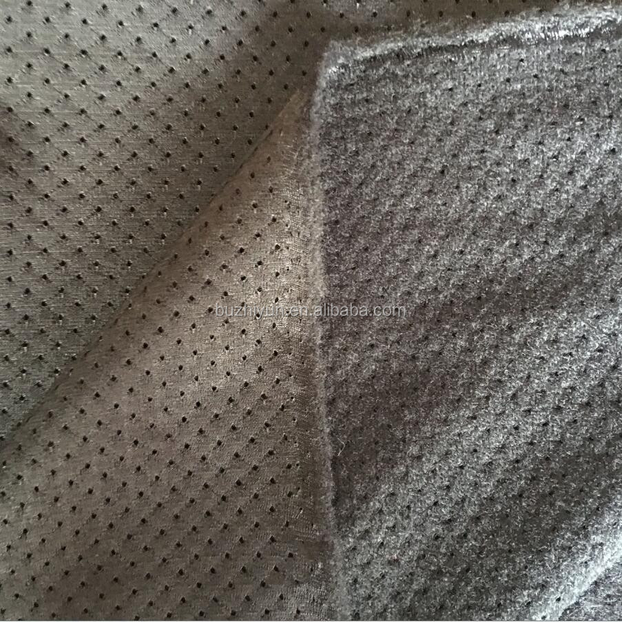 polyester tricot brushed mesh fabric