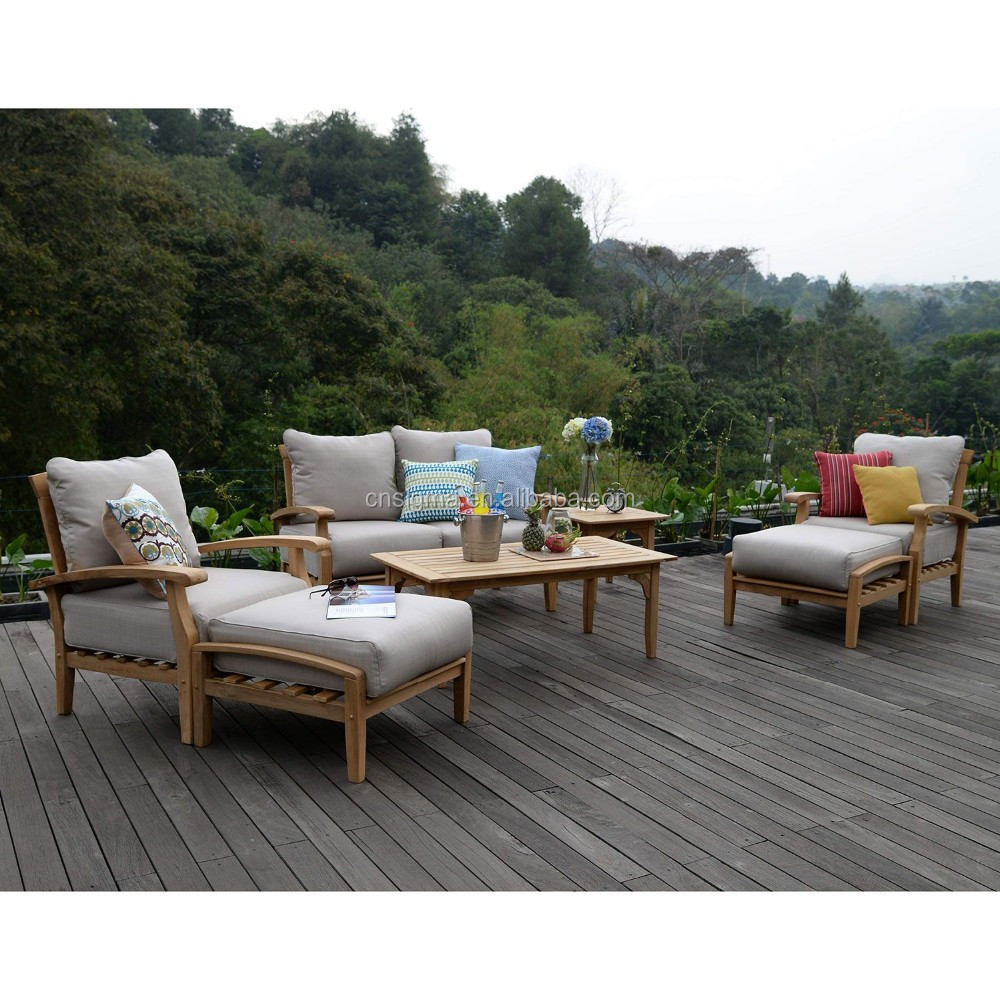 2016 outdoor furniture teak wood design sofa set furniture
