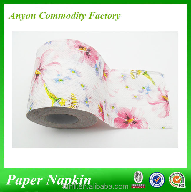 2ply 3ply flower printed toilet tissue paper