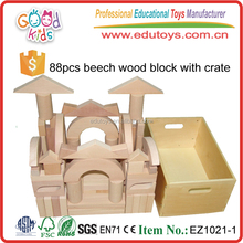High Quality Beech Wood Material Block Toys Kids Formative Education Wooden Block for Children