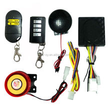 Waterproof voice alert motorcycle alarm system with human voice