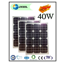 40 watt mono solar panel CE/IEC/TUV/UL Certificate solar panel price list