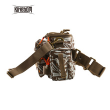 Kingdom LYB-13 Waterproof Fishing Tackle Bag Multifunctional Outdoor Adjustable Sided Waist Shoulder Carry Pack Fishing Gear