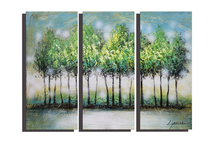 Museum quality group painting in 3 pieces landscape oil painting