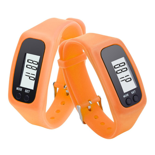 Electronic digital wristband pedometer watch with clock steps calories distance counter odometer bracelet