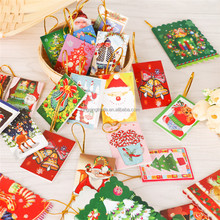 Christmas tree decoration pendant blessing and greeting card small hanging ornament wish card