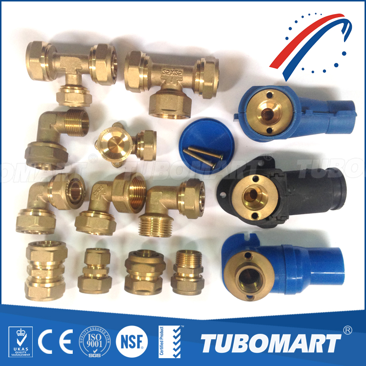 Lead free BSP NPT 110 series brass union male female equal screw fitting for water pex pipes