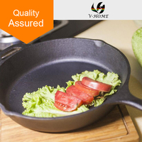 Top quality FDA nonstick cast iron cookware frying pan