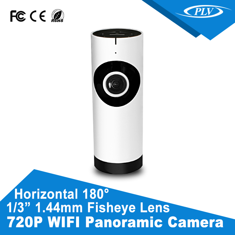 180 degree Full view fisheye HD 720P fisheye ptz IP camera with 2 way audio