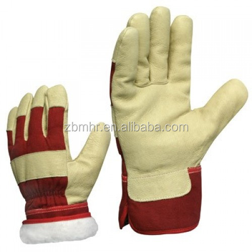 Brand MHR Hi-Vis Pig Grain Leather Thinsulate Lining Work Gloves for Winter