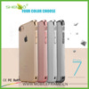 Bulk Buy China Wholesale High Quality TPU Ultra Thin Cellphone Cases Transparent Electroplating Smart Phone Case for iPhone 7