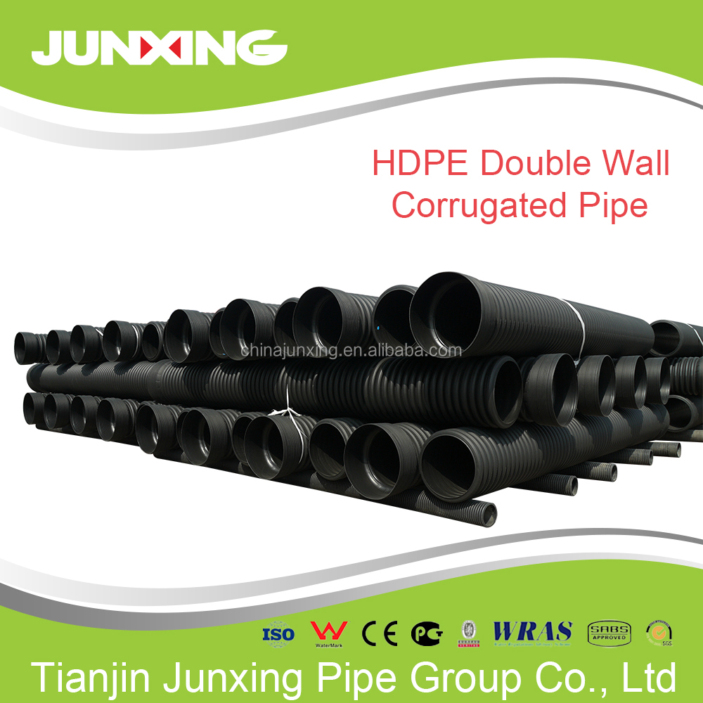"Junxing factory large diameter 2"" 8 600 corrugated drainage pipe"