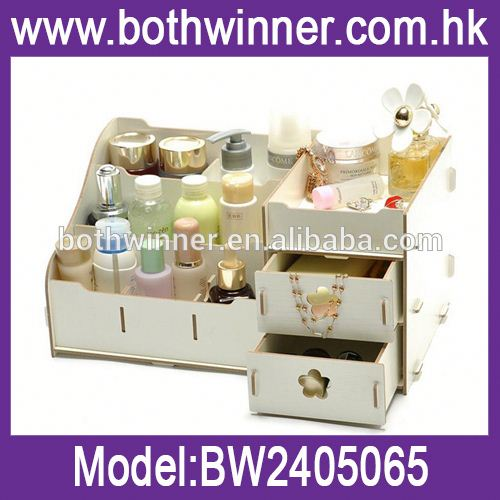 Wood gift cosmetic box h0tS8 bathroom vanity box for sale