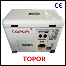8KVA/7KW Small Silent Type Diesel generator TP8500DGS with Electric Start (CE EPA CSA)