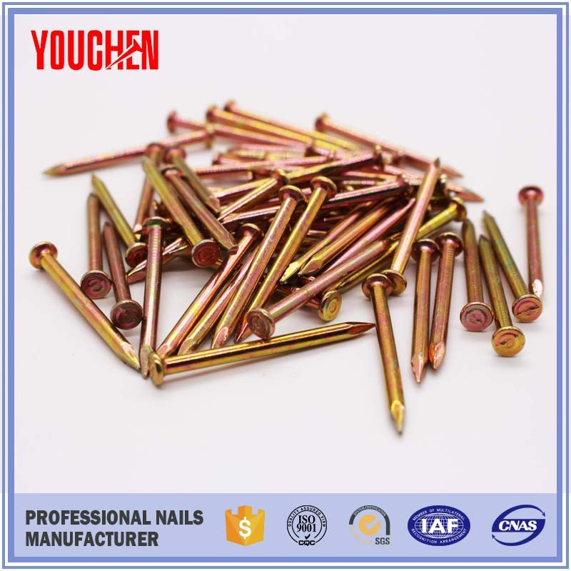 high quality galvanized steel common nail with golden colour